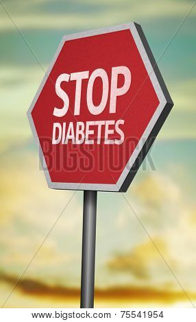 Creative sign with the message - Stop Diabetes