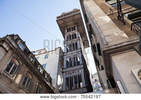 Historic Tower Again Blue Sky