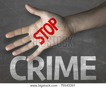 Creative composition with the message Stop Crime