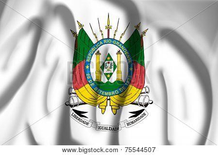 Flag of Coat of arms of Rio Grande do Sul, Brazil
