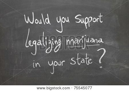 Would you support legalizing marijuana in your state?