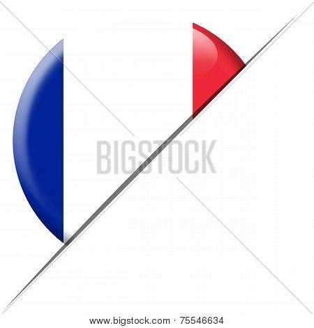 France Pocket Flag