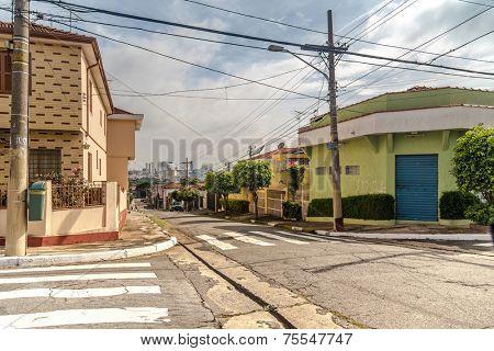 Streets in Sao Paulo , Brazil