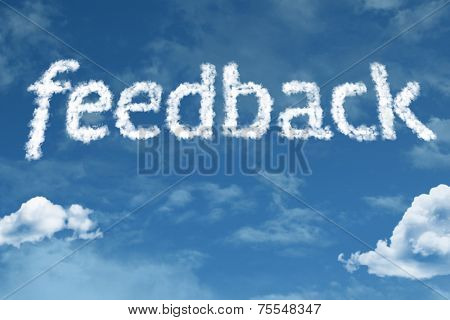 Amazing Feedback text on clouds