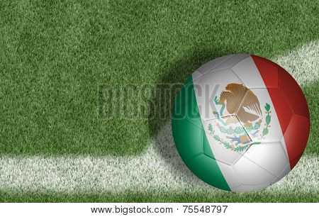Amazing soccer ball of Mexico on the corner