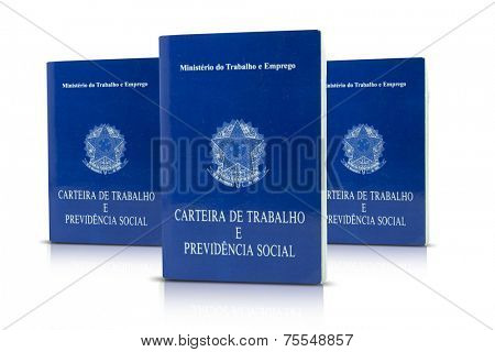 Brazilian document work and social security ( Carteira de Trabalho e Previdencia Social)