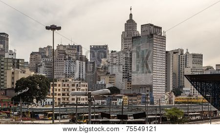 Sao Paulo landscape with the Banespa Building