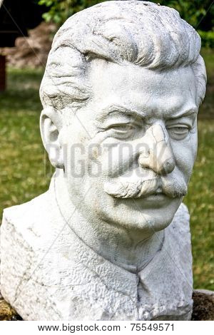 MOSCOW, RUSSIA - MAY 29: Statue to Joseph Stalin in Moscow on May 29, 2013. Stalin was the USSR generalissimo during the World War Two.