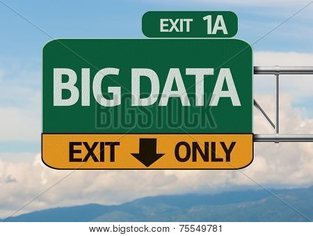 Creative Big Data Exit Only, Road Sign