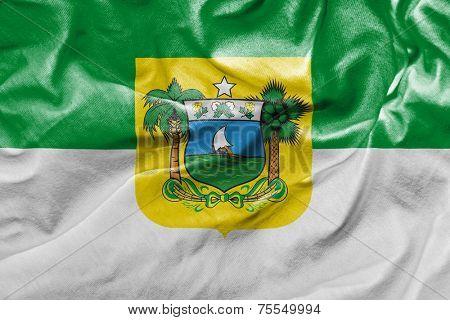 Amazing flag of the State of Rio Grande do Norte , Brazil