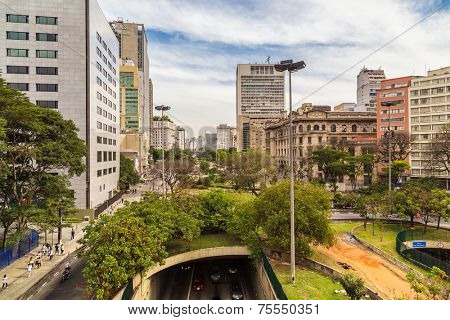 Downtown of Sao Paulo ( Viaduto do Cha ) Brazil - Latin America