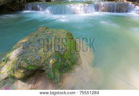 Waterfall in National park Kanchanaburi, Thailand