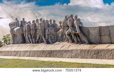 Bandeiras Monument in Ibirapuera Park, Sao Paulo, Brazil - Latin America
