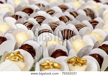 Table with delicious candies prepared for any special event