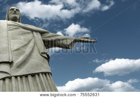 Famous statue of the Christ the Redeemer, in Rio de Janeiro, Brazil