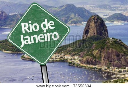 Rio de Janeiro Sign on the Loafsugar, Brazil