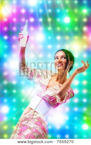 Young Woman At The Disco