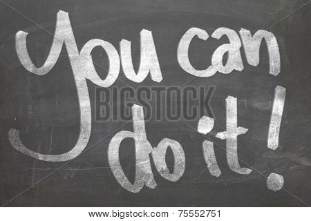 You Can do it in white chalk handwriting on the blackboard