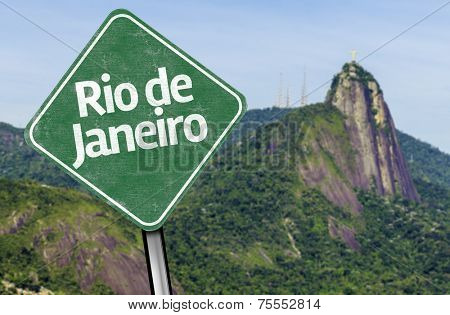 Rio de Janeiro Sign on Corcovado Hill, Brazil