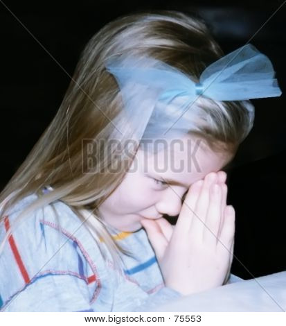 Girl Child Praying - Let Us Pray