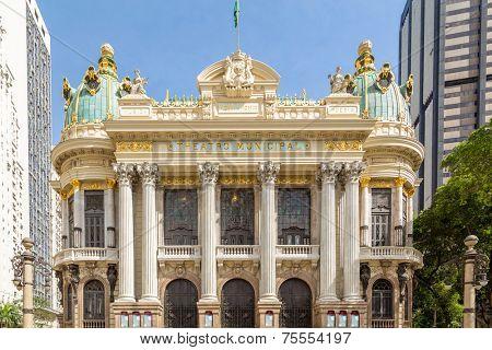 Opera House (Teatro Municipal) in Rio de Janeiro, Brazil - Latin America