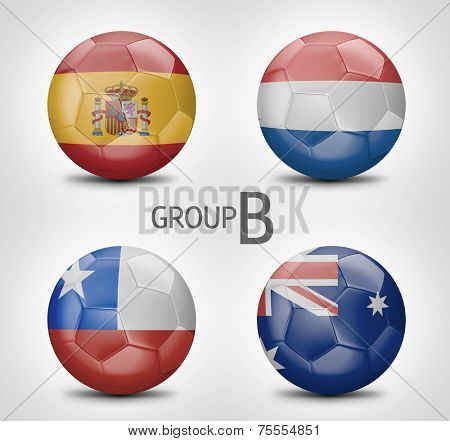 Group B - Spain, Netherlands, Chile, Australia (Brazil)