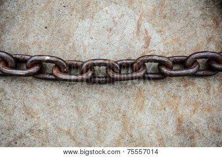 Rusty Chain On Floor