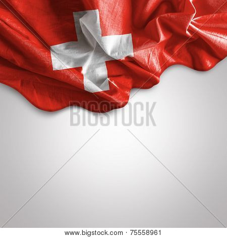 Waving flag of Switzerland, Europe
