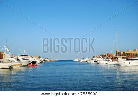 Yacht Moorage In El-gouna, Egypt