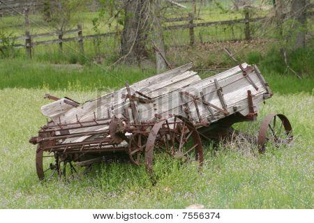Vintage manure spreader