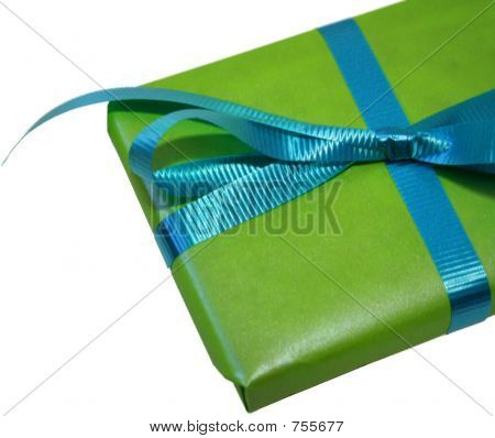 Green and Blue Gift