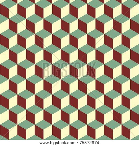Abstract Isometric Colorful Cube Pattern Background