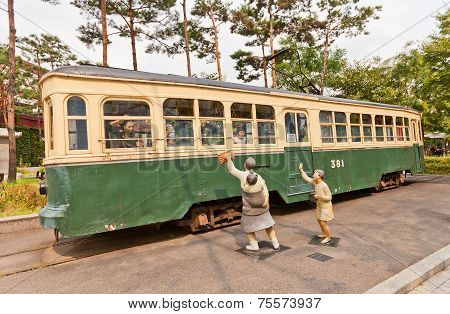 Electric Streetcar No 381 (circa 1930)  In Seoul, Korea