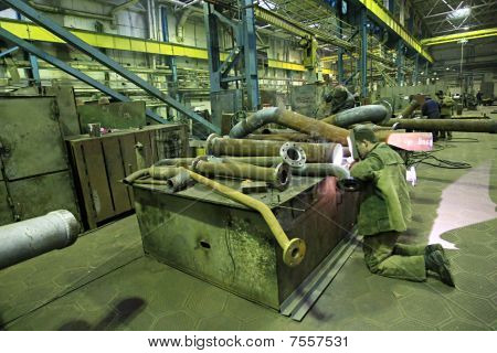 Workers At Factory