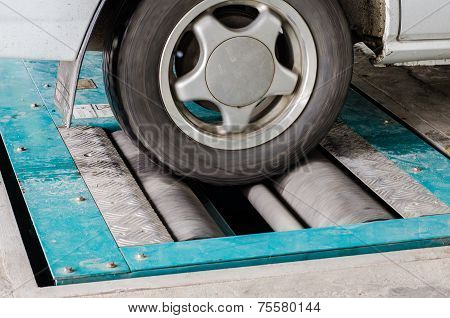 Brake Testing System Of A Car