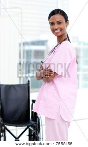 Portrait Of A Confident Afro-american Nurse