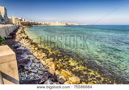 Seafront Of Trapani, Sicily
