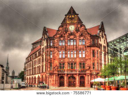 Altes Stadthaus Block In Dortmund, Germany