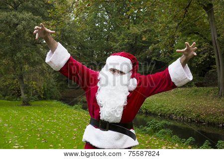 Santa Claus In The Park