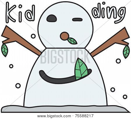 vector winter snowman face cartoon emotion expression joke