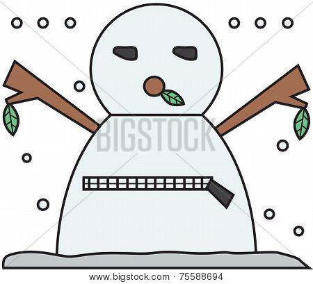 vector winter snowman face cartoon emotion expression zip
