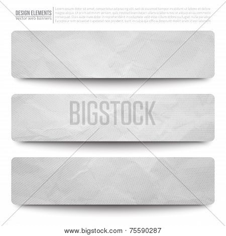 Vector Web Paper Banners