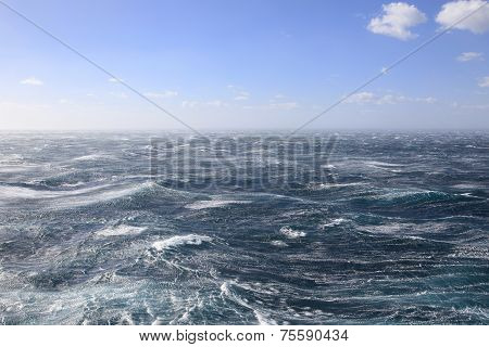 Stormy seas and Blue skies