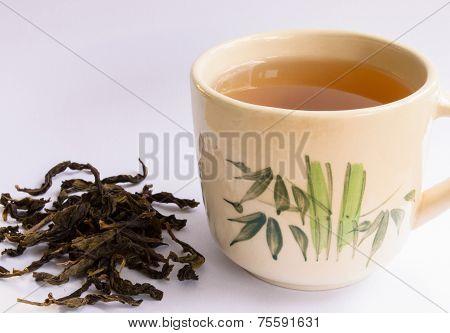 Teacup With Tea Leaf
