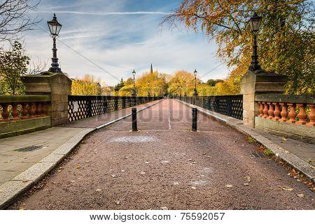 Armstrong Bridge Spans Jesmond Dene
