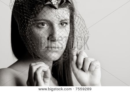 Stunning Woman With Veil