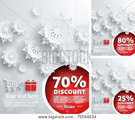 Merry Christmas background discount percent