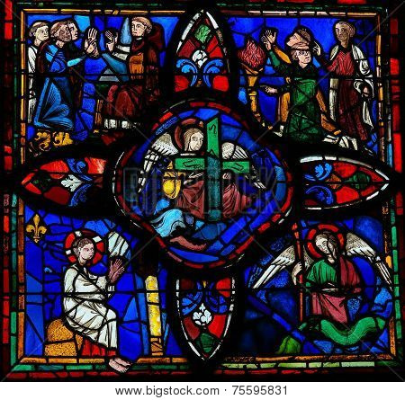 Stained Glass Window In Tours