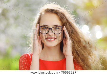 Charming Girl In Glasses