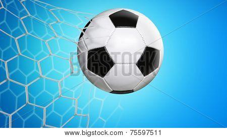 Amazing goal on blue background